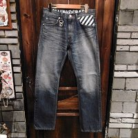 "{ROLLING CRADLE} THUNDER GATE DENIM 1st ""damage type"" / INDIGO"