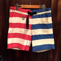 {ROLLING CRADLE} CONVICT BORDER SHORTS / RED×BLUE