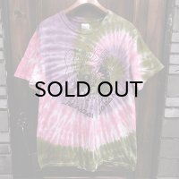 {NO MAD NUMSKULL} TIE DYE S/S T-SHIRTS / PUEPLE×PINK×OLIVE / (L)
