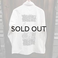 "{MOMENTARY PSYCHO ART}  ""RUINED"" L/S SHIRTS / 生成り / (M)"