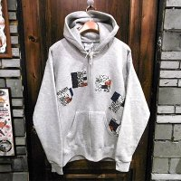 "{NO MAD NUMSKULL}  ""DEATH"" ZIP SWEAT PARKA / GRAY / M"