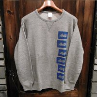 "{NO MAD NUMSKULL} ""死"" CREW NECK SWEAT/ GRAY"