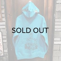 "{MOMENTARY PSYCHO ART} ""Letter From The North"" P/O PARKA / Turquoise"