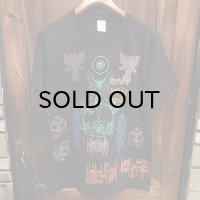 """{MOMENTARY PSYCHO ART} """"Letter From The North"""" MULTI PRINT T-SHIRTS / BLACK"""