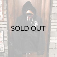 "{MOMENTARY PSYCHO ART} ""Letter From The North"" ZIP JACKET / BLACK"