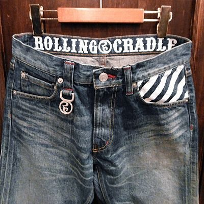 "画像3: {ROLLING CRADLE} THUNDER GATE DENIM 1st ""damage type"" / INDIGO"