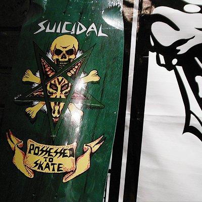 """画像1: {SUICIDAL SKATES} """"possessed to skate deck"""""""