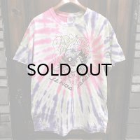 {NO MAD NUMSKULL} TIE DYE S/S T-SHIRTS / PINK×LIME×PURPLE / (L)