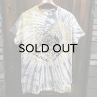 {NO MAD NUMSKULL} TIE DYE S/S T-SHIRTS / YELLOW×GRAY / (M)