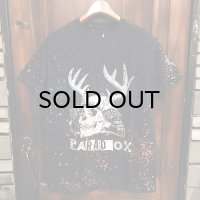 "{PARADOX} ""Skull Soldier"" DYE S/S T-SHIRTS / BLACK×BLUE×RED / (M)"