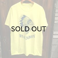 "{PARADOX} ""Indian cat"" S/S T-SHIRTS / 蛍光YELLOW"