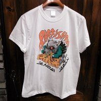 "{NO MAD NUMSKULL} ""RAFFISH DOG"" HAND PAINT S/S T-SHIRTS / ORANGE / M"