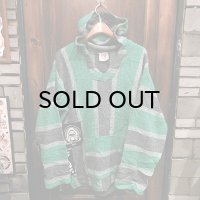 """USED"" {NO MAD NUMSKULL} Remake Mexican Parka / GREEN×BLACK"