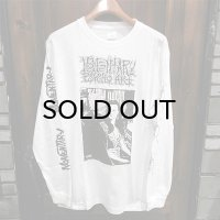 "{MOMENTARY PSYCHO ART} ""WINDOW"" L/S T-SHIRTS / WHITE"
