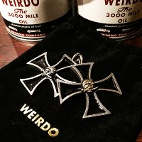 {WEIRDO JEWELRY} CROSS TOP / BANDITS / SILVER925,SILVER925×BRASS