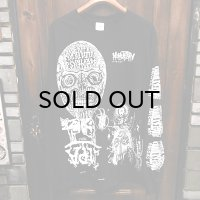 "{MOMENTARY PSYCHO ART} ""MULTI PRINT"" L/S T-SHIRTS / BLACK / (L) / ""DEMON FACE"""