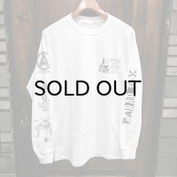 "{PARADOX} Back ver. ""Beard"" L/S T-SHIRTS / WHITE / (M)"