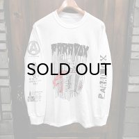 "{PARADOX} ""Accordion"" L/S T-SHIRTS / WHITE / (L)"