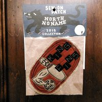 """{NORTH NO NAME} FELT PATCH / M / """"KING PINS"""""""