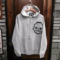 "{NO MAD NUMSKULL} ""死""  SWEAT ZIP PARKA / GRAY / L"