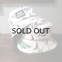 "{PARADOX × NO MAD NUMSKULL} ORIGINAL PATTERN BUCKET HAT / ""SHARK"" / 生成り"