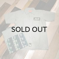 "{NO MAD NUMSKULL} NMN ""GB"" S/S WORK SHIRTS / GREEN"