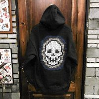 "{NO MAD NUMSKULL}  ""SKULL"" ZIP SWEAT PARKA / BLACK / M"