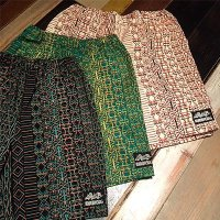 "{NO MAD NUMSKULL} ORIGINAL PATTERN SHORT PANTS / ""KATAKANA"""