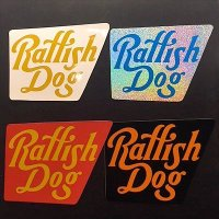 "{RAFFISH DOG} ""まちだカッティング"" reflector sticker / M"