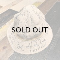 """{NORTH NO NAME} """"MESSEAGE"""" 30's TYPE LINEN HAT"""