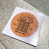 {BOWL Cotton Wear} the BACK DOOR STICKER