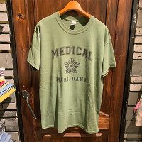 "{Marijuana tokyo} ""Medical"" S/S T-SHIRTS (MILITARY GREEN)"