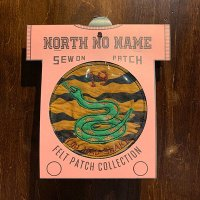 """{NORTH NO NAME} FELT PATCH / M / """"YOU MAD SNAKE"""""""