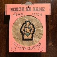 """{NORTH NO NAME} FELT PATCH / S / """"FACE"""""""