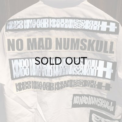 画像4: {NO MAD NUMSKULL} PATCH L/S WORK SHIRTS / WHITE / M