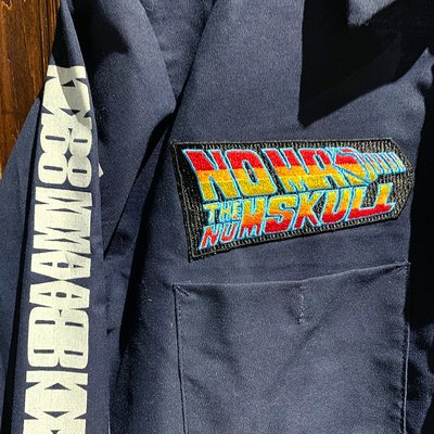 画像4: {NO MAD NUMSKULL} PATCH L/S WORK SHIRTS / NAVY / S