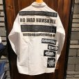 画像2: {NO MAD NUMSKULL} PATCH L/S WORK SHIRTS / WHITE / M (2)