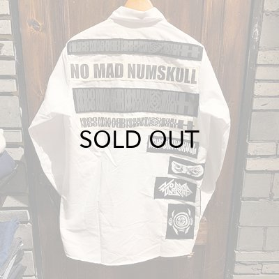 画像2: {NO MAD NUMSKULL} PATCH L/S WORK SHIRTS / WHITE / M