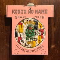 "{NORTH NO NAME} FELT PATCH / M / ""PEACE"""