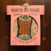 "{NORTH NO NAME} FELT PATCH / M / ""I'M MAD ABOUT YOU"""