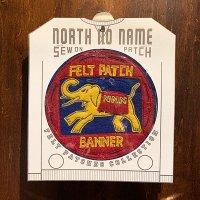 "{NORTH NO NAME} FELT PATCH / VINTAGE / ""NNN BANNER"""