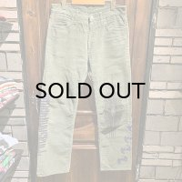 {NO MAD NUMSKULL} used CORDUROY PANTS / GREEN