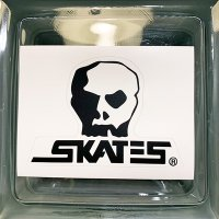 {SKULL SKATES}  LOGO DIE CUT STICKER
