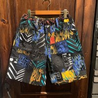 {NO MAD NUMSKULL} ORIGINAL PATTERN SHORT PANTS / PATCHWORK / (L)