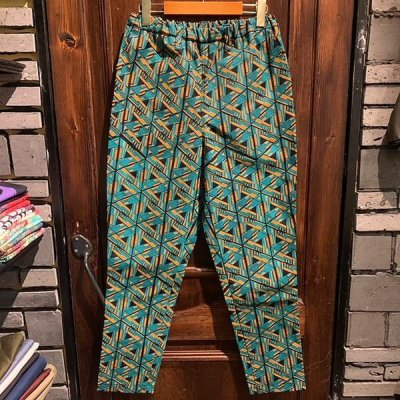 "画像1: {NO MAD NUMSKULL} ORIGINAL PATTERN LONG PANTS / ""ROBOT"" / GREEN×ORANGE / (S)"